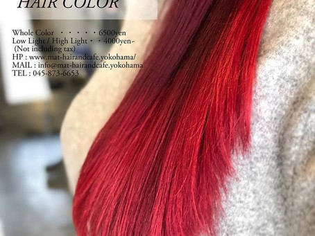 〈Ombré × Red Color × Treatment〉