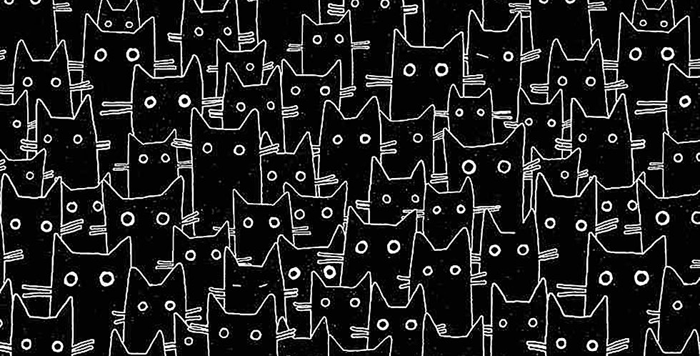 Les Chats Noirs Having a Meowment