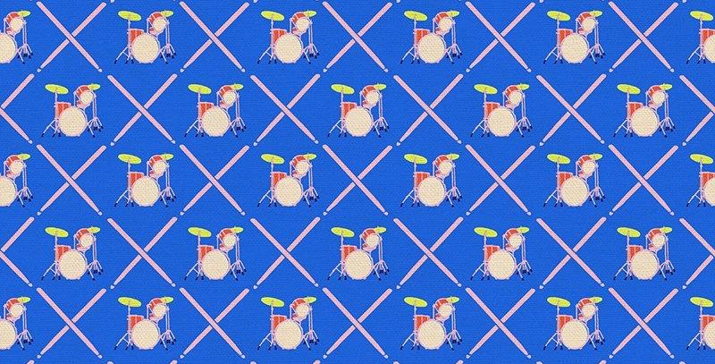 Rebel Girl Drum Solo Blue