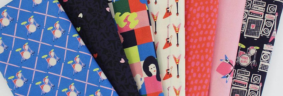 rebel girl fabric bundle
