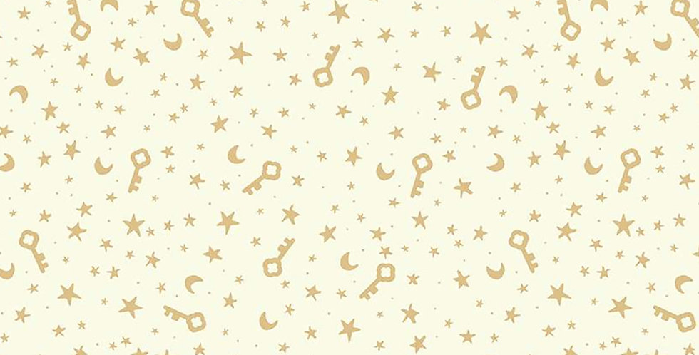 Dream World Keys & Stars Cream Sparkle