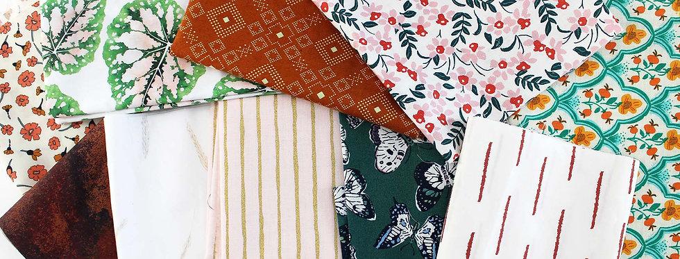 floral fabric scrap pack
