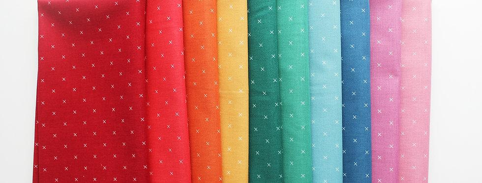 Bee Cross Stitch Rainbow Half Yard Bundle