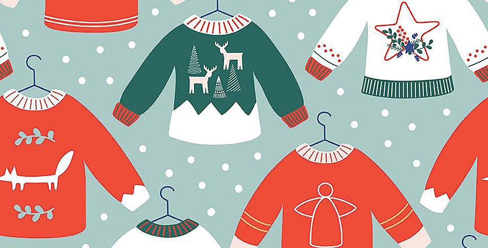 Scandinavian Christmas Sweater Tiny Garden