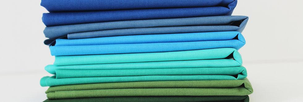 Blues Solids Fat Quarter Bundle