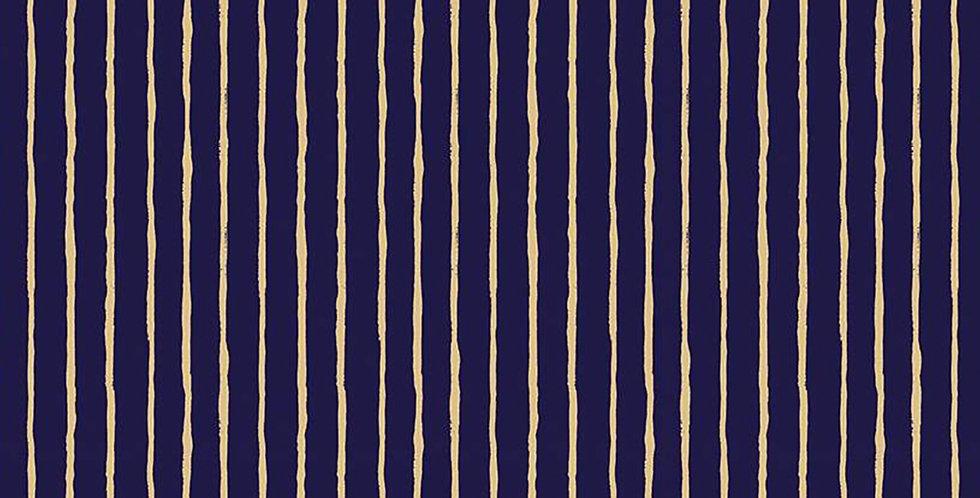 Dream World Stripes Navy Sparkle