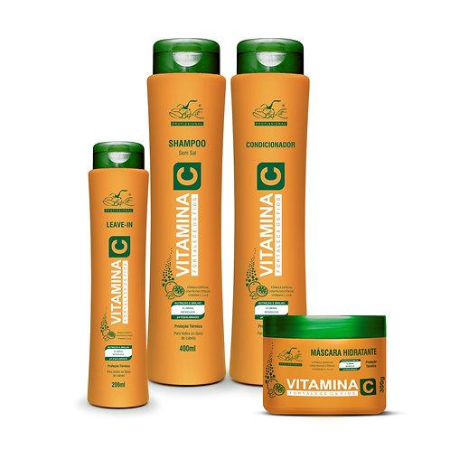 Kit Capilar Vitamina C 4 itens