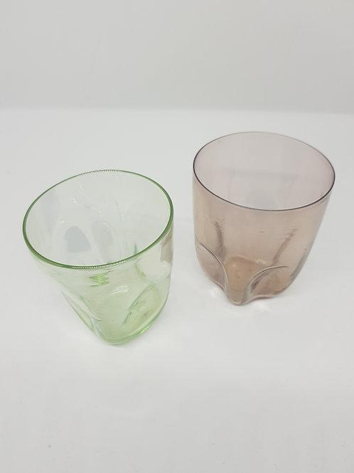 pair Murano 1920s iridescent glass