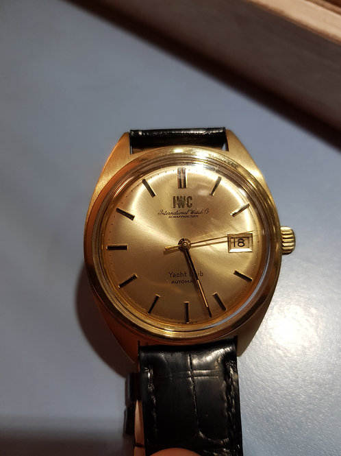 IWC Yacht Club automatic 1970s yellow 18kt gold