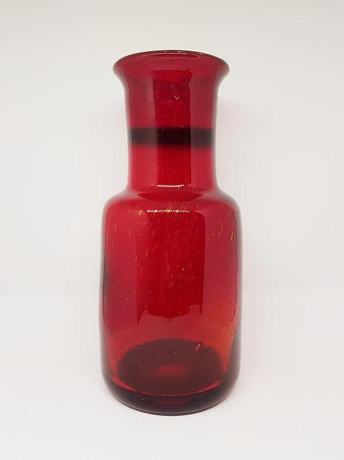 Big Erik Hoglund Boda 1960s red vase
