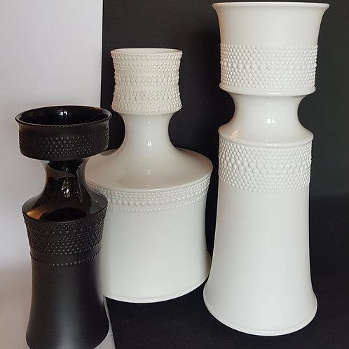3 Tapio Wirkkala black and white vases