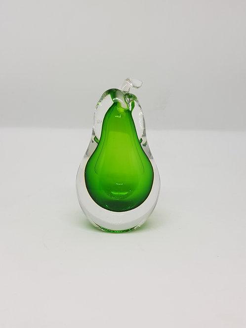 Vicke Lindstrand green sommerso perfume bottle