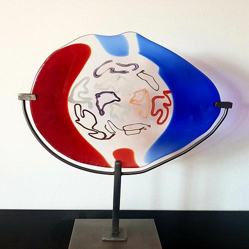 Luciano Gaspari unique Murano art glass