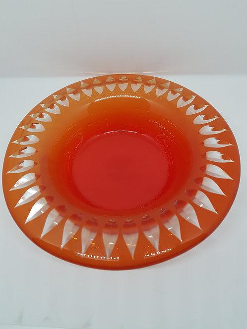 Sigurd Persson, Kosta cut glass big bowl