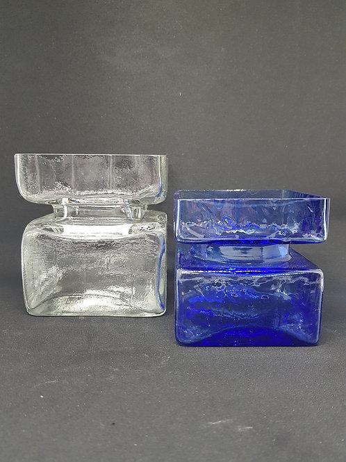 "2 Helena Tynell ""Pala"" glass Riihimaki 1970s"