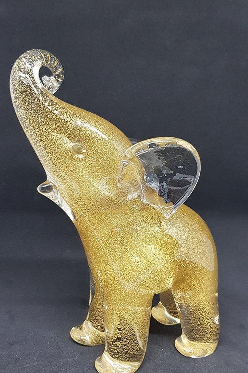 Archimede Seguso Murano glass elephant