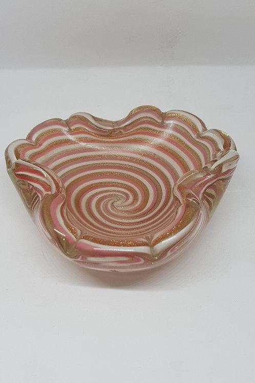 Barovier e Toso Murano 1950s Avventurina glass bowl.