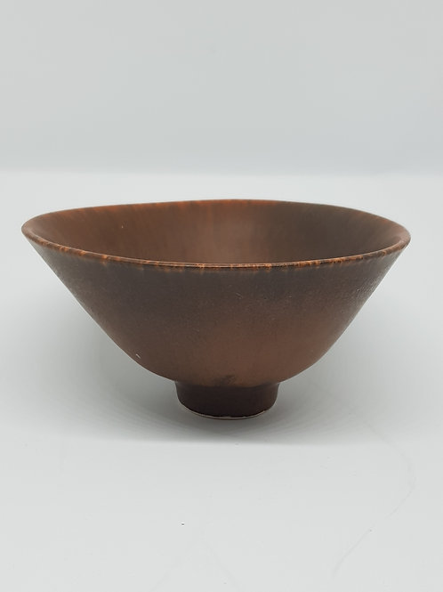 C.H.Stalhane, Rorstrand 1950s brown bowl.