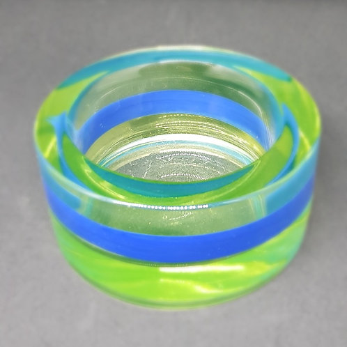 Antonio da Ros for Cenedese 1960s Murano Alexandrite glass bowl