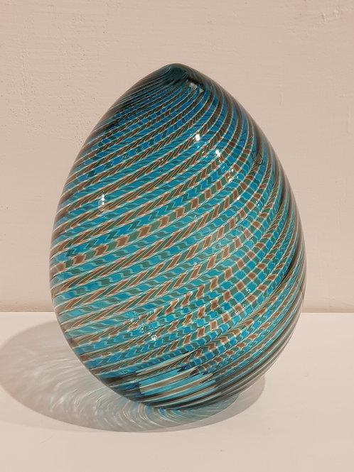 """Venini big egg """"Acquamare/Talpa"""" Venini 2003 L. D. de Santillana"""