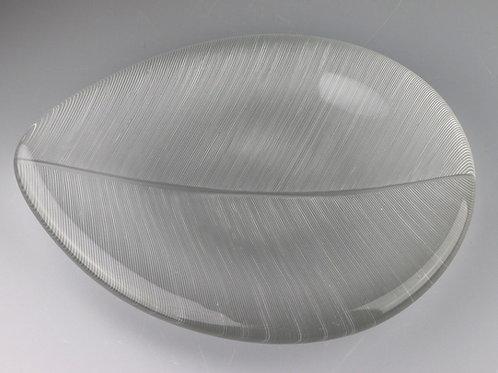 Tapio Wirkkala cut glass leaf