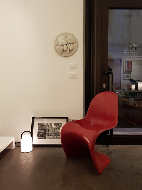 4 red Panton chairs 1967