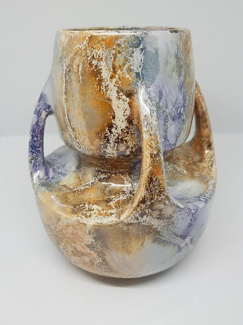 Arabia stoneware marble vase 1920s