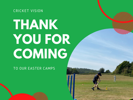 Easter Camps: A Thank You
