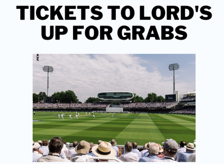 Fancy Some Free Tickets To Lord's?