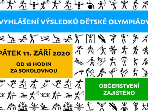 Vyhlášení dětské olympiády
