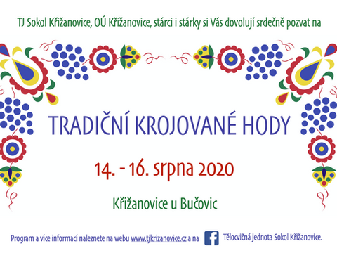 Pozvánka na tradiční krojované hody v Křižanovicích