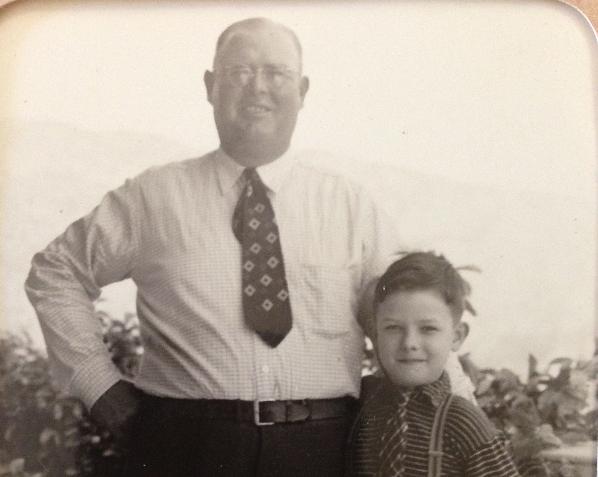 Bob with father, Hugh