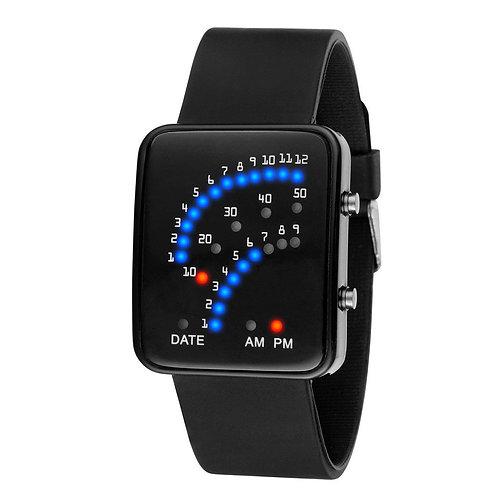 Binary Digital Dots Silicone LED Watch