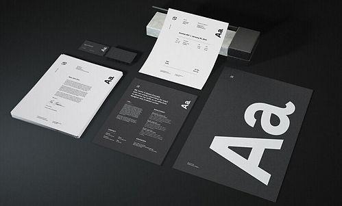 Logo design concept on stationary