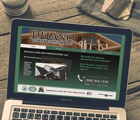 Computer screen showing a website design