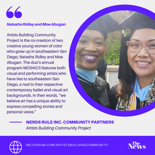 NERDS RULE INC. Community Partners- Artist Building Community Project