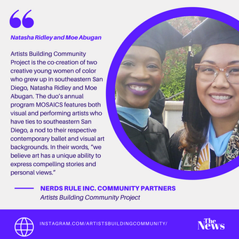 NERDS RULE INC. Community Partners- Artist Building Community Project