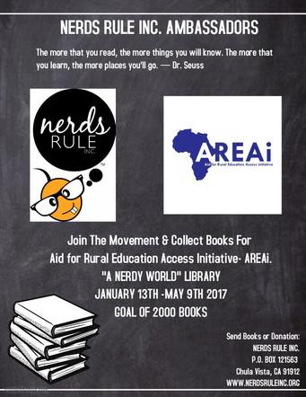 NERDS RULE INC. Ambassadors Rebuild A Nigeria Library
