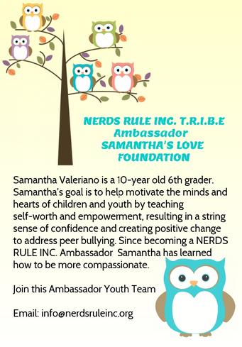 NERDS RULE INC's Samantha's Love Foundation