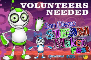 NERDS RULE INC. partnership with San Diego Steam Maker Festival.