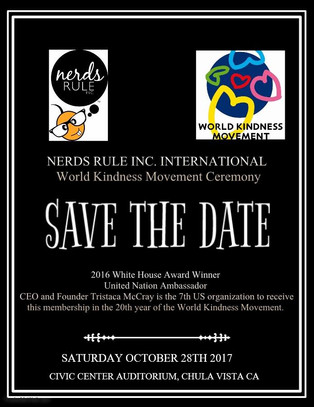 World Kindness Movement Ceremony SAVE THE DATE!!!
