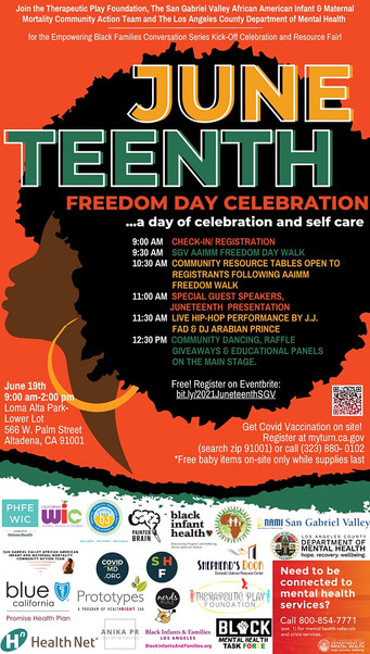 2021 Juneteenth Freedom Day with Our NERDS RULE INC. San Gabriel Valley Community Partners