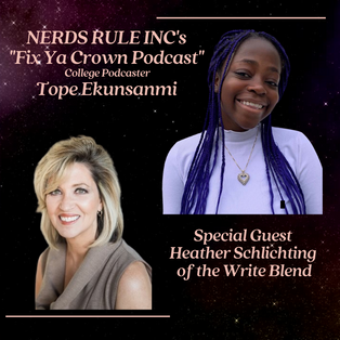 NERDS RULE INC's  Fix Ya Crown Podcast  with College Podcaster Tope Ekunsanmi