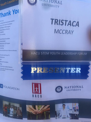 "National University Presenter Tristaca McCray NERDS RULE INC. ""Building The Next Generation of"