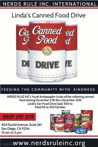 NERDS RULE INC. Youth Ambassador Canned Food Drive