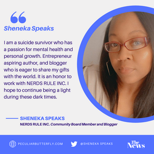 Sheneka Speaks joins NERDS RULE INC as a Community Board Member and Blogger.