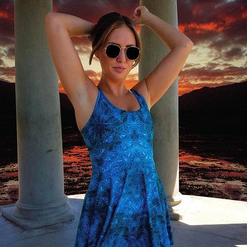 Blue Asanoha - Dress
