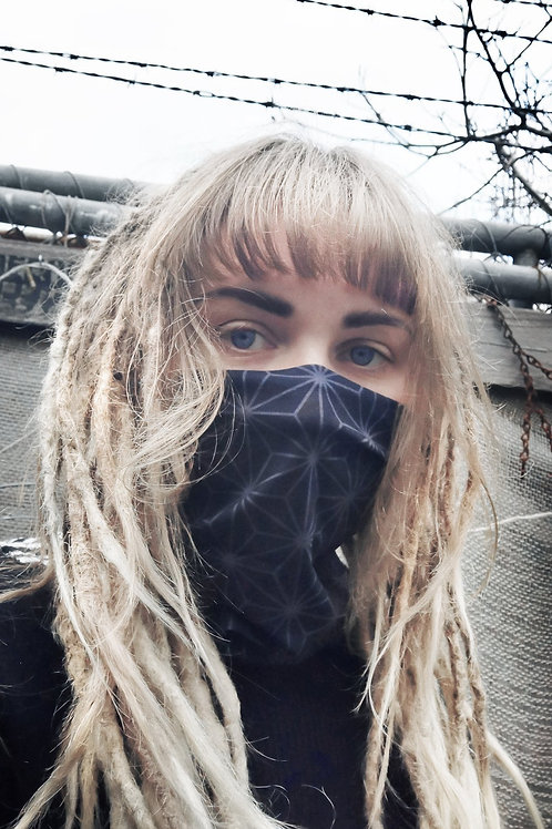 Black Geo 2 - Face Mask