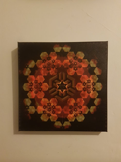 Merkaba Del Sol - Printed Canvas
