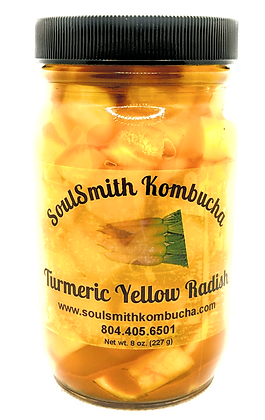 SoulSmith Kombucha Fermented Turmeric Yellow Radish 8 oz.
